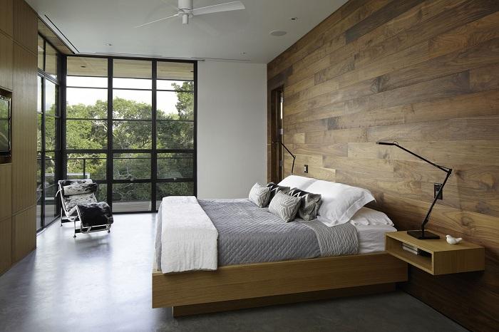 Один из лучших вариантов - декор спальной в современных тенденциях.