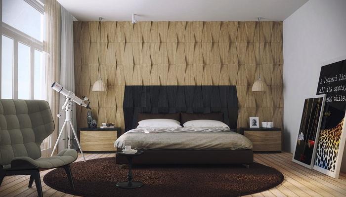 Симпатичный декор спальной в сером цвете, что выглядит невероятно.
