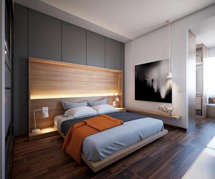 Прекрасный вариант создать необыкновенный интерьер в спальной.
