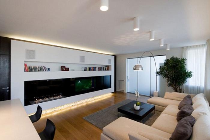 Симпатичне рішення декорувати по-особливому улюблену кімнату для прийняття гостей.