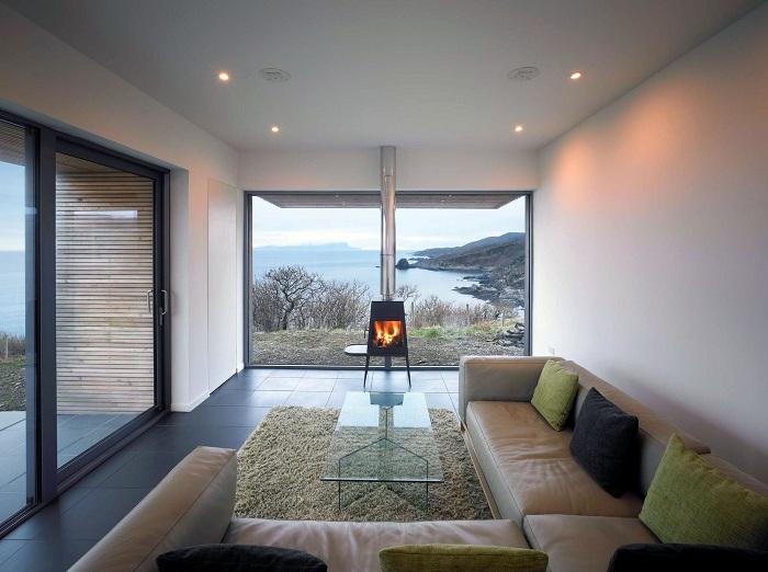 Красивий інтер'єр вітальні, що виконаний в оптимальних тонах, які надихнуть.
