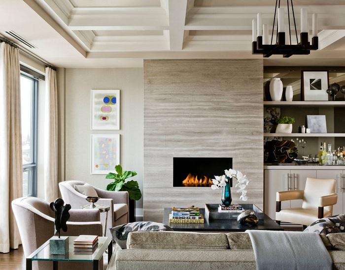 Крутий приклад оформлення гостьової кімнати в ніжно-кремових тонах, що надихне.