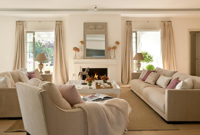 Краще рішення вдало облаштувати приміщення в теплих тенденції.