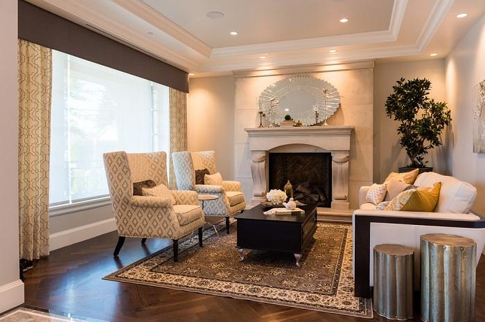 Дивний і відмінний інтер'єр вітальні, яка стане особливим рішенням.