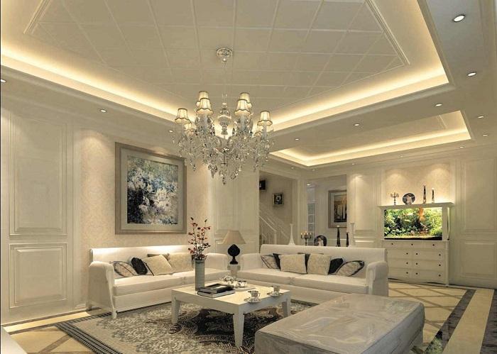 Вариант создать сказочную и легкую атмосферу в интерьере гостиной, что точно понравится.