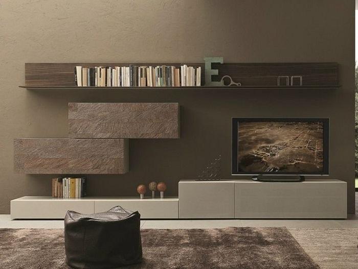 Телевизор прекрасно вписывается в общую обстановку и создает невероятное настроение в комнате.