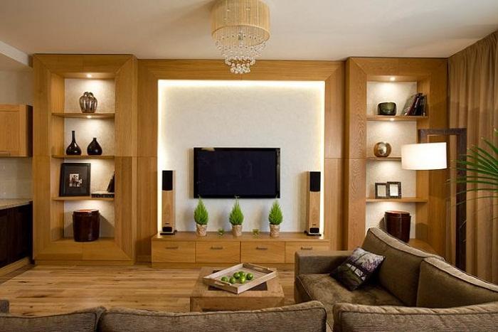 Стильный интерьер с использованием деревянной мебели, что может быть еще лучше чем это.