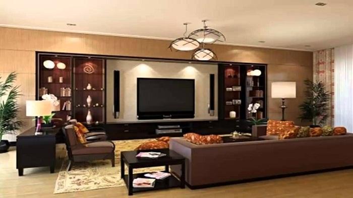 Незабываемый интерьер комнаты в оригинальных тенденциях в коричнево-бежевых тонах, что понравится и вдохновит.