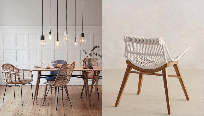 Примеры оформления плетеной мебели, которые станут хорошим украшением для дома.