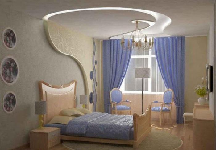 Декорирование стен при помощи применения гипсокартона, что создаст невероятные изгибы и особенный интерьер.