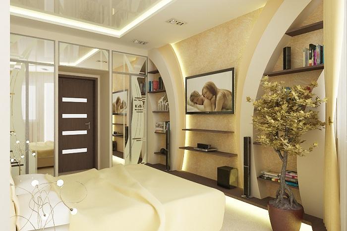 Оформление комнаты в нежно-кремовых тонах, что вдохновит по максимуму.