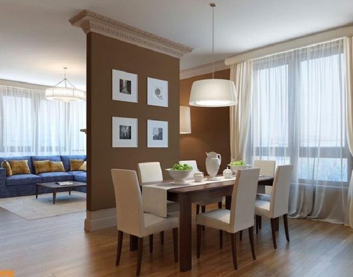 Разделитель комнат при помощи гипсокартонной стены, что станет просто оптимальным решением.