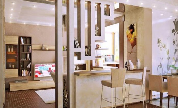 Прекрасный вариант преобразить комнату и создать в ней отменную обстановку - это создать перегородку с гипсокартона.