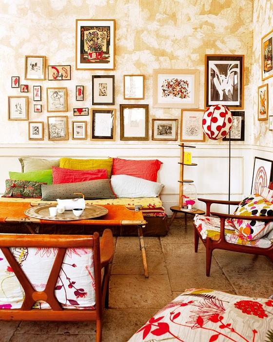 Симпатичный и светлый интерьер комнаты - порадует глаз с первого взгляда.