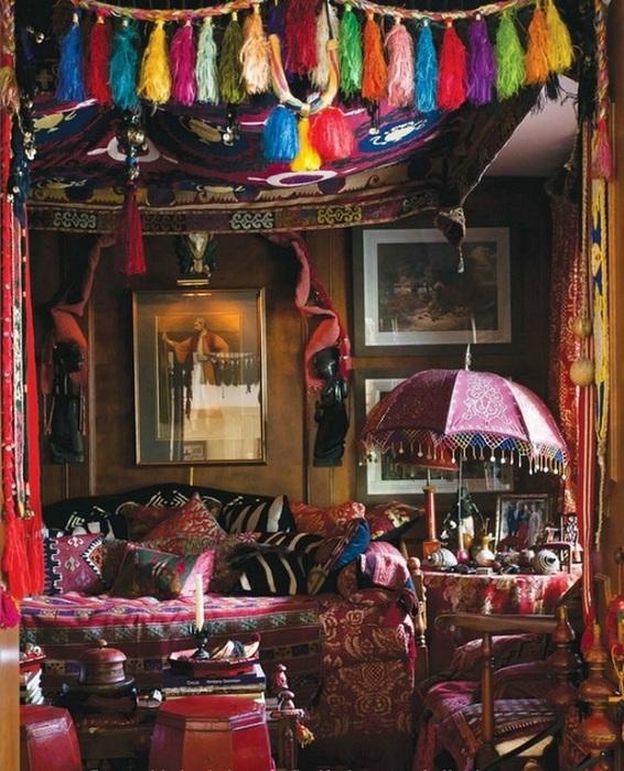 Множество мелких деталей - отлично украшает комнату и создает прекрасную атмосферу в ней.