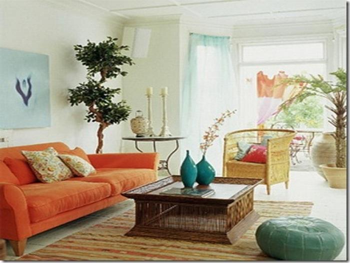 Невероятный дизайн гостиной в стиле бохо - простота и легкость в атмосфере комнаты.