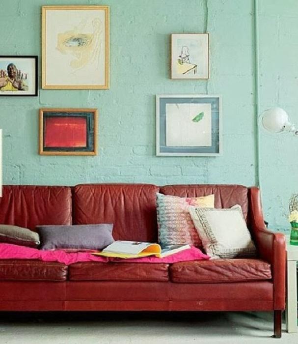 Кожа цвета бордо - классика роскоши, даже в стиле гранж.