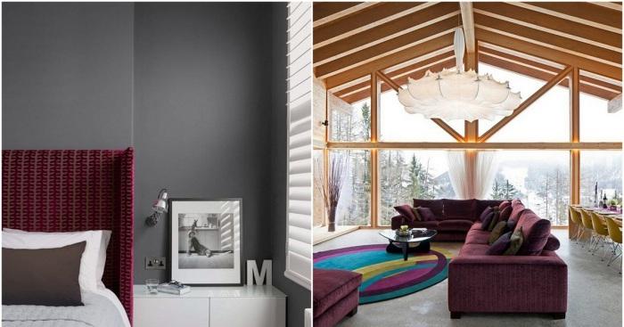 Бордовые элементы декора украсят любую комнату в доме.