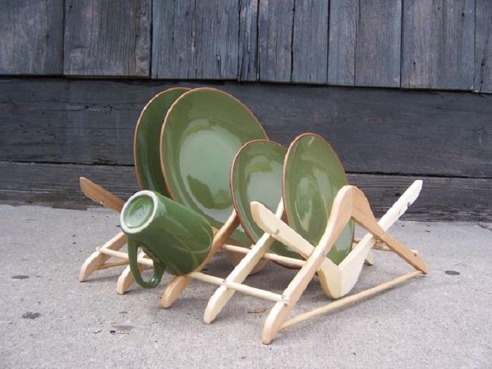Crear el plato estante óptima posible utilizando perchas convencionales.