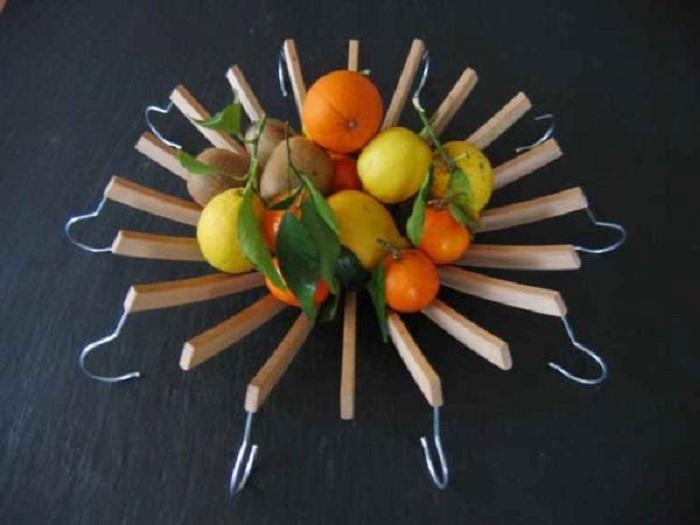 Красивое решение для создания удачной посудины для хранения любимых фруктов.