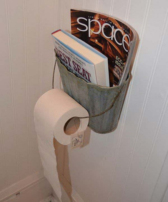 Оригинальная ячейка для газет и журналов сэкономит пространство и украсит интерьер.