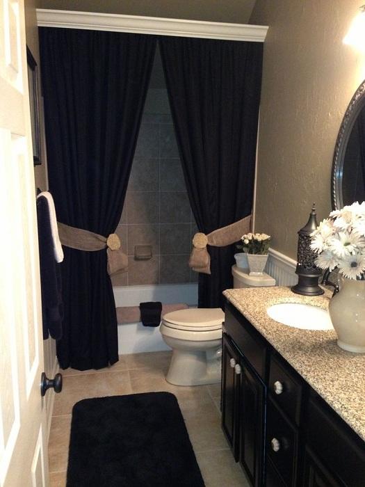 Прекрасное преображение ванной комнаты при помощи элегантного черного цвета, что станет стильным решением.