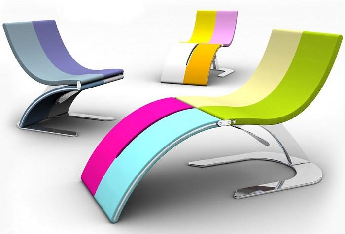 Обычный стул, который трансформируется в красивое кресло.