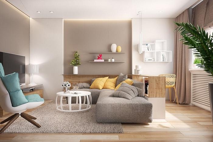 Уютный и современный угловой диван создаст легкую и уютную обстановку дома.