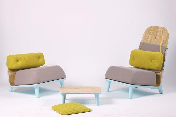 Милое и практичное кресло с низкой спинкой - удачный выбор для интерьера.
