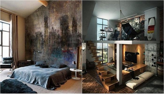 Примеры декорирования маленьких пространств комнат.