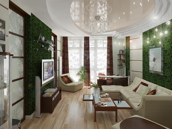Гостиная не должна быть перегружена мебелью. Только самое необходимое и самое удобное.