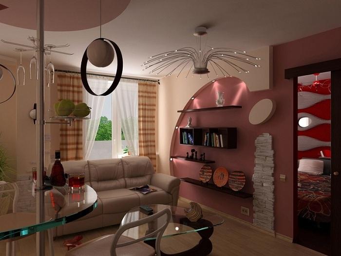 Небольшая гостиная с барной стойкой - прекрасное место для встреч с гостями.