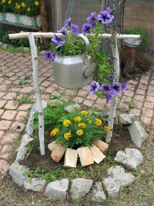 Декоративные поделки для сада своими руками из дерева