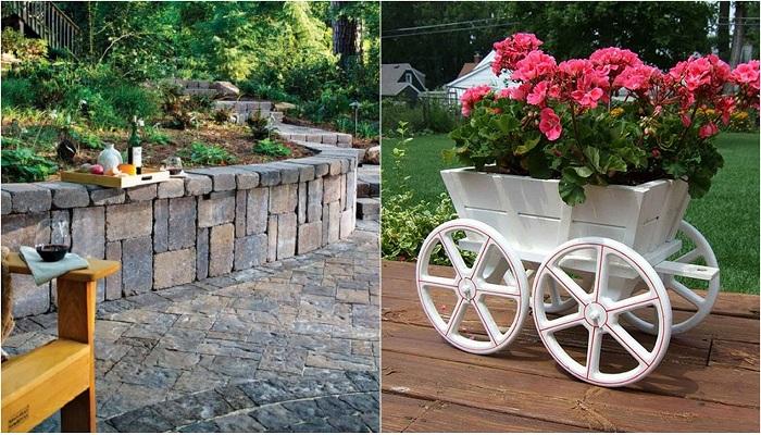 Примеры декорирования сада, что может быть еще ярче и красивее.