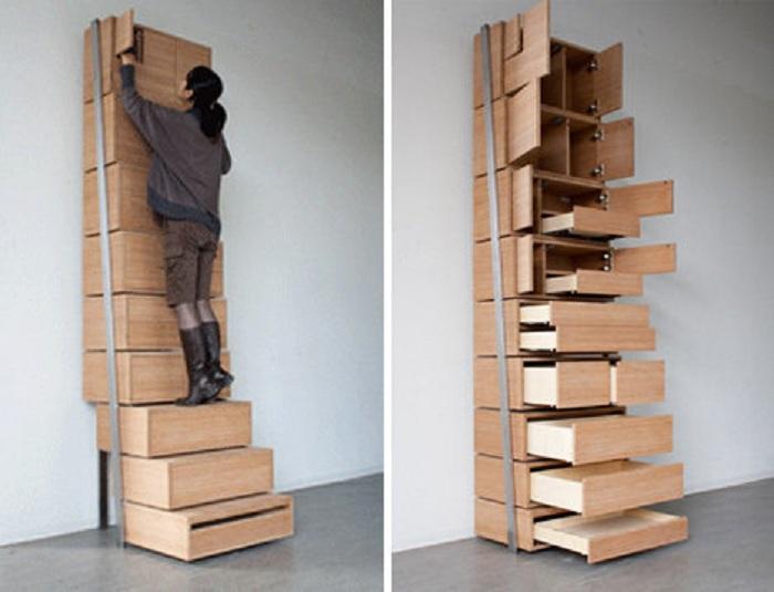 Нестандартный шкаф для хранения нужных вещей, который придется многим по душе и завоюет ваше внимание.