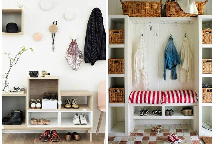 Место для хранения вещей, которое оформлено очень красиво и практично, что позволит оптимизировать пространство в квартире.
