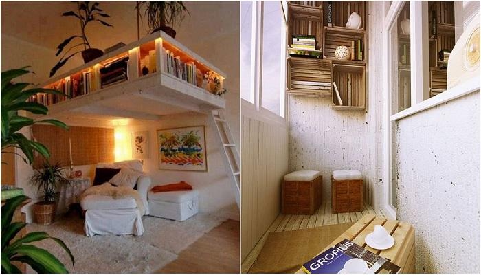 Идеи для экономии пространства в маленьких помещениях.
