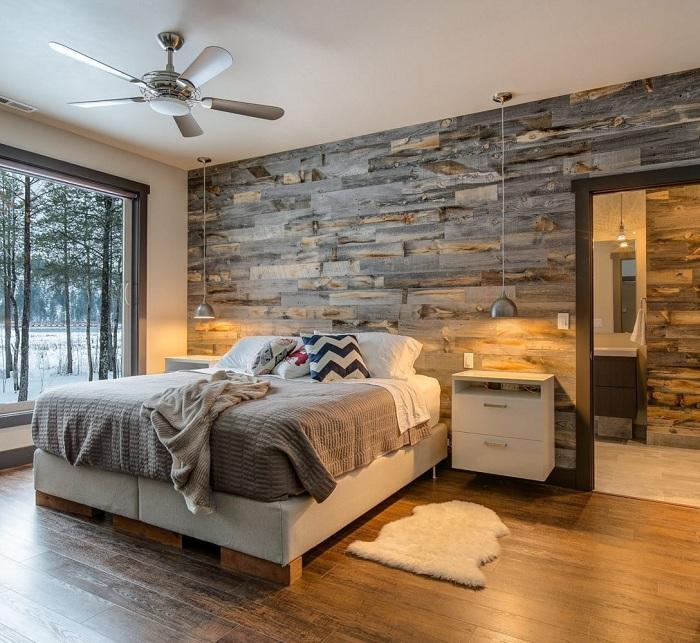 Прекрасный интерьер спальни, что станет просто находкой для оформления комнаты для отдыха и сна.