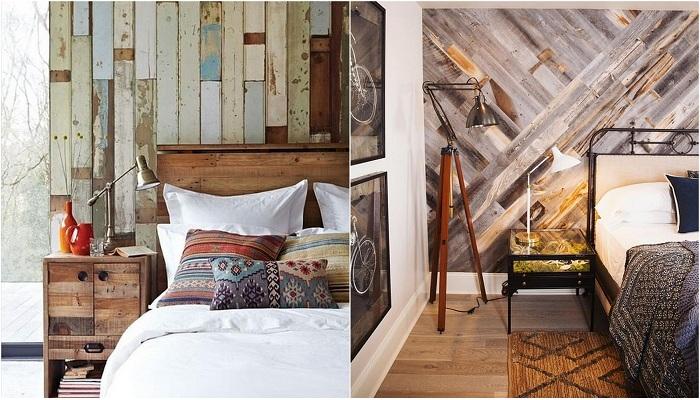 Примеры применения древесины в оформлении стен в доме.