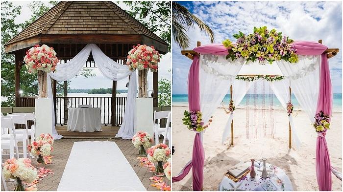 Свадебные беседки – отличный вариант для оформления свадебного торжества.