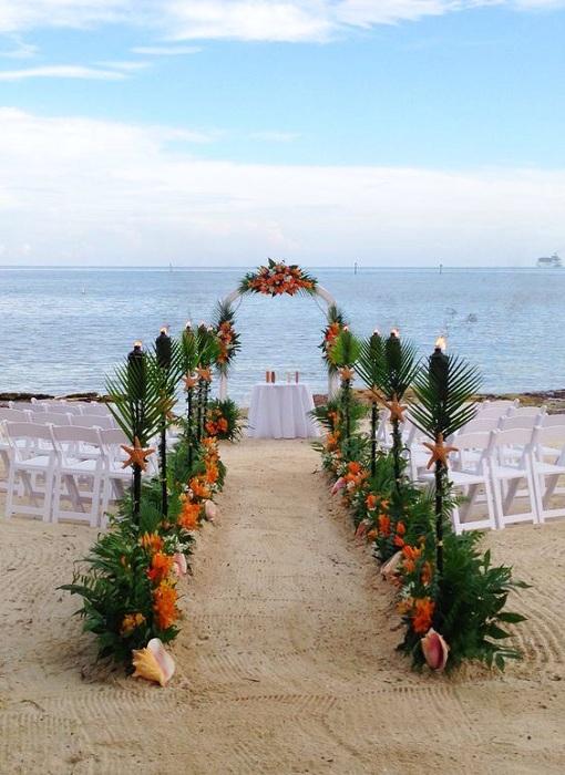 Хороший вариант отгулять свадьбу на берегу океана – это подарит массу положительных эмоций и создаст необыкновенное настроение.