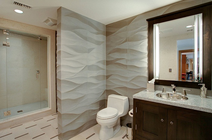 Крутое решение для оформления стен с объемными обоями, что создадут особенную и таинственную атмосферу.