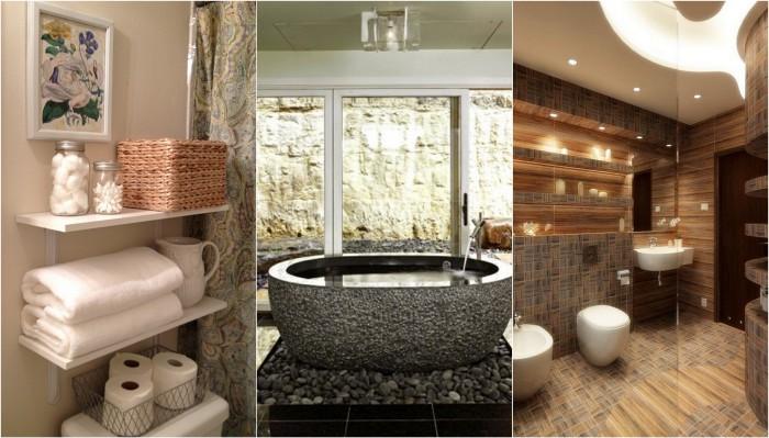 Декорирование стен в ванной комнате.