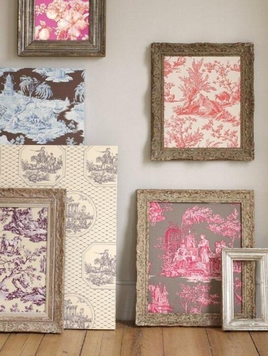 Украшение стен может быть совершенно разнообразным, например, это могут быть нестандартные картины.