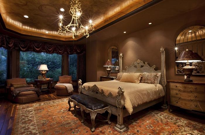 Стоит использовать шоколадный цвет, что добавит богатого вида комнате.
