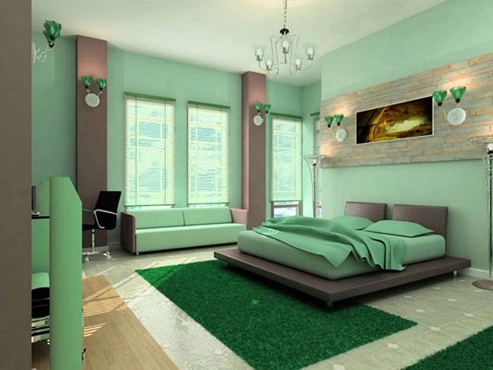 Цветовой тон в спальне может быть идеальным, что обеспечит успокаивающую обстановку.