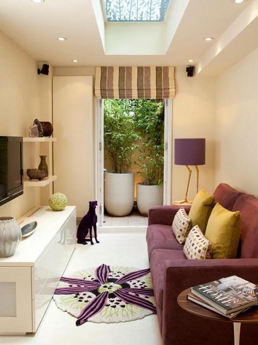 Отличные лиловые оттенки в декорировании комнат, позволят создать просто отличные дизайнерские решения и преобразят любой интерьер.