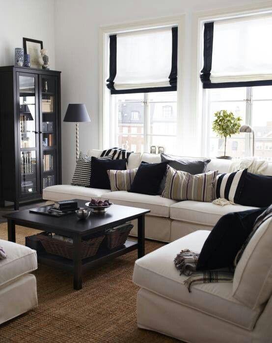 Просто прекрасные идеи для оформления гостиной, в контрастных тонах.