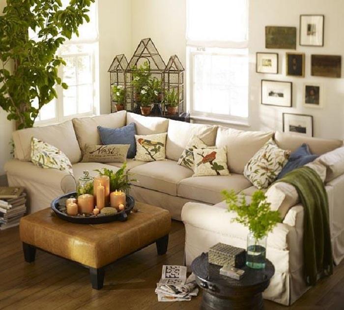 Хороший вариант декорирования маленькой гостиной, что точно понравится и поможет преобразить интерьер.