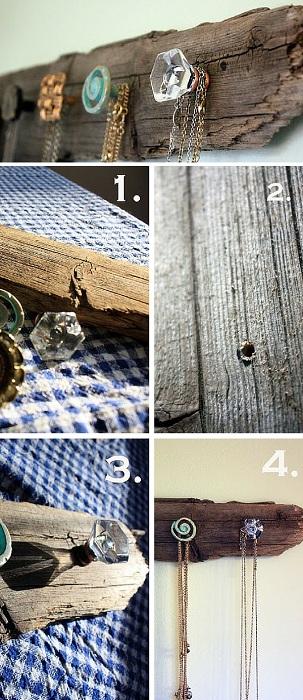 Прекрасное решение для хранения украшений что станет оригинальным элементом интерьера и оптимизирует пространство.
